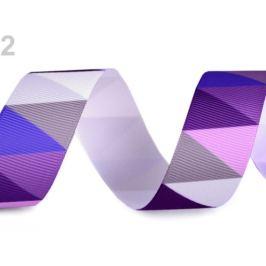 Rypsová stuha / lampas šírka 25 mm fialová 10m Stoklasa