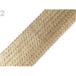 Guma s metalickým efektom šírka 60 mm zlatá svetlá 1m Stoklasa