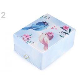Šperkovnicae vtáčiky 8,5x14x18 cm modrá nezábudková 1ks Stoklasa