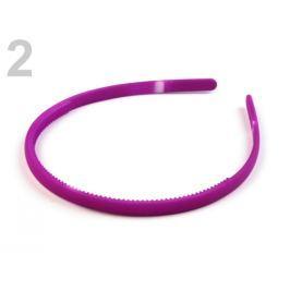 Plastová čelenka do vlasov fialová purpura 1ks Stoklasa