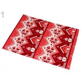 Vianočné prestieranie obojstranné 33x45 cm krémová sv. 2ks