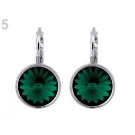 Náušnice so Swarovski Elements Rivoli emerald 1pár