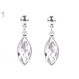 Náušnice so Swarovski Elements Naveta crystal 1pár