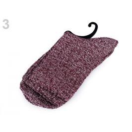 Ponožky teplé žíhané bordó 1pár Stoklasa