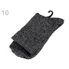 Ponožky teplé žíhané čierna 1pár Stoklasa