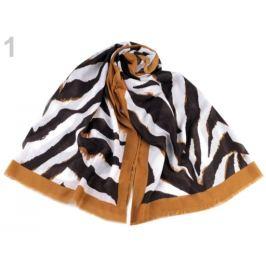 Šál zebra 80x180 cm horčicová 1ks Stoklasa