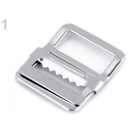 Odevná pracka prehnutá / skracovač šírka 20 mm nikel 4ks Stoklasa