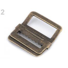 Odevná pracka prehnutá / skracovač šírka 20 mm staromosadz 4ks Stoklasa