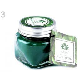 Malá vonná sviečka v skle s menovkou zelená malachitová 1ks