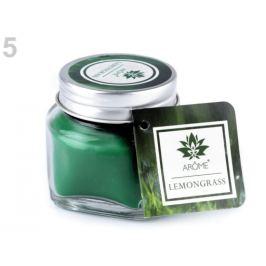 Malá vonná sviečka v skle s menovkou zelená pastelová 1ks