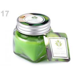 Malá vonná sviečka v skle s menovkou zelená sv. 1ks