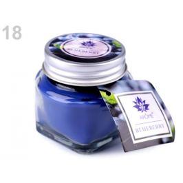Malá vonná sviečka v skle s menovkou modrá safírová 1ks