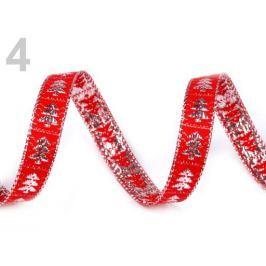 Vianočná stuha strom šírka 10 mm červená 45m Stoklasa