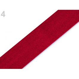 Šikmý prúžok saténový šírka 15 mm červená tm. 1m