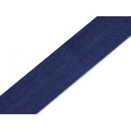 Šikmý prúžok saténový šírka 15 mm modrá berlínska 1m