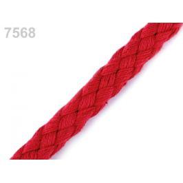 Bavlnená šnúra Ø9 mm splietaná červená 10m