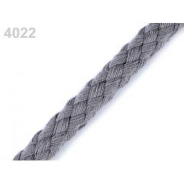 Bavlnená šnúra Ø9 mm splietaná šedá 10m