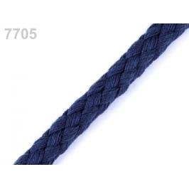 Bavlnená šnúra Ø9 mm splietaná modrá tm. 10m
