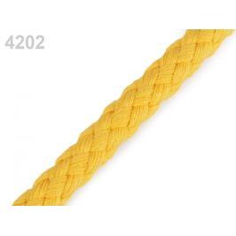 Bavlnená šnúra Ø9 mm splietaná žltá 10m