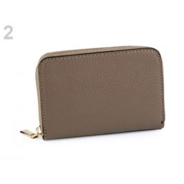 Dámska peňaženka kožená béžová tm. 1ks