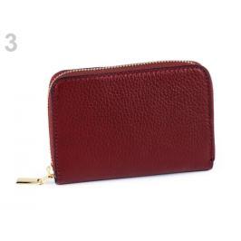 Dámska peňaženka kožená bordó sv. 1ks