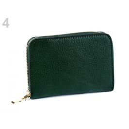 Dámska peňaženka kožená zelená malachitová 1ks