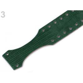 Popruh / ucho na kabelku 4x67 cm zelená malachitová 1ks