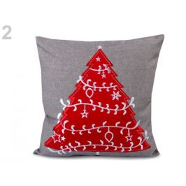 Vianočná obliečka na vankúš 40x40 cm vyšívaný šedá 1ks Stoklasa