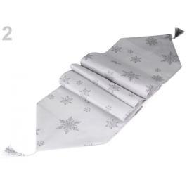Vianočný behúň / obrus 35x180 cm šedá sv. 1ks Stoklasa