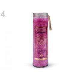 Vonná čakrová sviečka v skle veľká fialovoružová 1ks