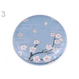 Kozmetické zrkadielko kvety modrá sv. 1ks
