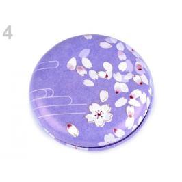 Kozmetické zrkadielko kvety fialová levandula 1ks