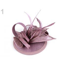 Fascinátor kvet s perím staroružová 1ks Stoklasa