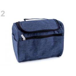 Kozmetická taška / závesný organizér 18x24 cm modrá jeans 1ks Stoklasa