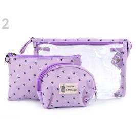 Kozmetické tašky sada 3 ks najsvetlejšia fialová 1sada Stoklasa