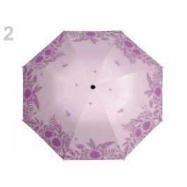Dámsky skladací dáždnik kvety pudrová 1ks Stoklasa