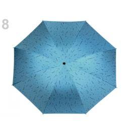 Dámsky skladací dáždnik modrá azurová 1ks Stoklasa