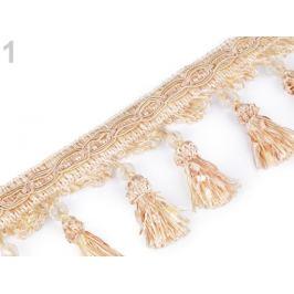 Prámik / strapce s korálikmi šírka 11,5 cm béžová najsv. 1m Stoklasa