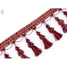 Prámik / strapce s korálikmi šírka 11,5 cm ružovofialová 1m Stoklasa