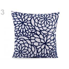 Obliečka na vankúš vyšívaný kvet 45x45 cm modrá parížska 2ks Stoklasa
