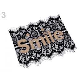 Čipková aplikácia Smile čierna 1ks Stoklasa