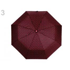 Dámsky skladací vystrelovací dáždnik srdce červená 1ks Stoklasa