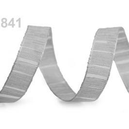 Stuha s monofilom a vlascom šírka 15 mm šedá sv. 25m