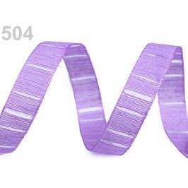 Stuha s monofilom a vlascom šírka 15 mm fialová sv. 25m