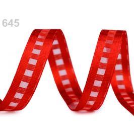 Kocková stuha s monofilom šírka 15 mm červená 10m