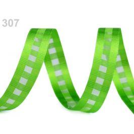 Kocková stuha s monofilom šírka 15 mm zelená sv. 10m