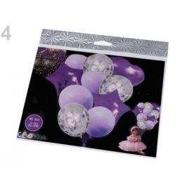 Nafukovacie balóniky s konfetami sada fialová 1sada Stoklasa