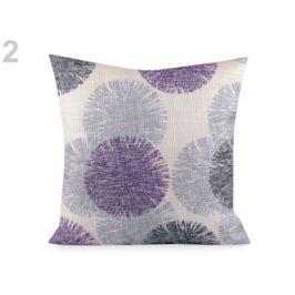Obliečka na vankúš kvety 44x44 cm fialová 2ks Stoklasa