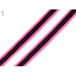 Odevná šnúra s luminous efektom šírka 8 mm ružová neon 20m Stoklasa