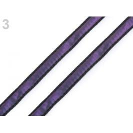 Odevná šnúra s luminous efektom šírka 8 mm fialová 20m Stoklasa